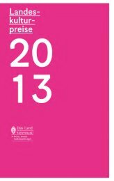 Landeskulturpreise 2013 - Steiermark - Land Steiermark