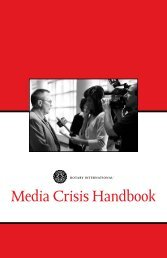 Media Crisis Handbook - Rotary District 5340