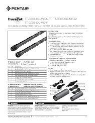 TT-3000-CK-MC-M/F TT-3000-CK-MC-M TT-3000-CK-MC-F - Pentair