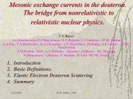 P - Veksler and Baldin LABORATORY OF HIGH ENERGIES - JINR