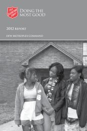2012 REPORT - Salvation Army