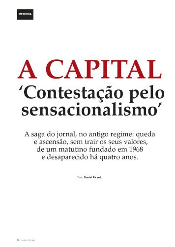 'Contestação pelo sensacionalismo' - Clube de Jornalistas