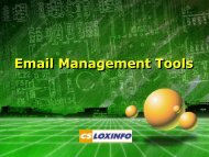 Email Management Tool - CS Loxinfo