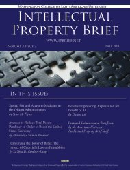 Here - American University Intellectual Property Brief