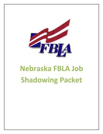 Nebraska FBLA Job Shadowing Packet