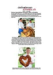 Zürcher Spezialitäten-Brotmarkt 2009 im Rückblick - Über Kleiner