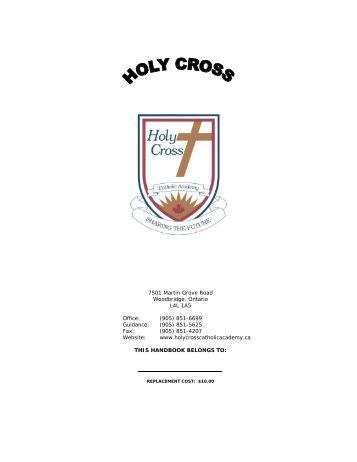 (905) 851-4207 Website - Holy Cross Catholic Academy - the York ...