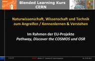 Blended Learning Kurs CERN - Virtuelle Schule