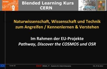 Blended Learning Kurs CERN - Virtuelle Schule