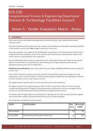 PR110112 - Annex 5 - Tender Evaluation Matrix Notes v1.0 - STFC's ...