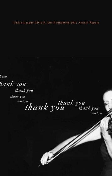 thank you - Union League Civic & Arts Foundation