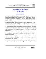 informe de gestión upme 2006 - Unidad de Planeación Minero ...
