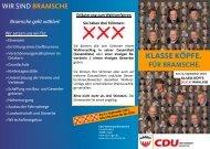 Ortsratsflyer für Bramsche - CDU Kreisverband Lingen