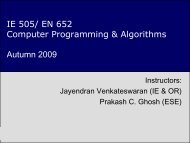 Introduction to Computer Programming & Algorithms - IEOR @IIT ...