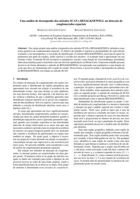 Uma análise de desempenho dos métodos SCAN e ...