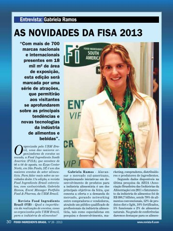 entrevista exclusiva: gabriela ramos ( ubm brazil ) - Revista FiB