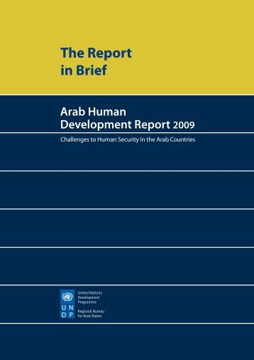 The Report in Brief - Arab Human Development Reports