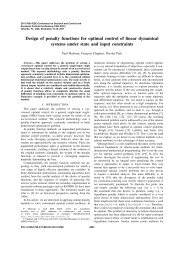 Design of penalty functions for optimal control of ... - MINES ParisTech