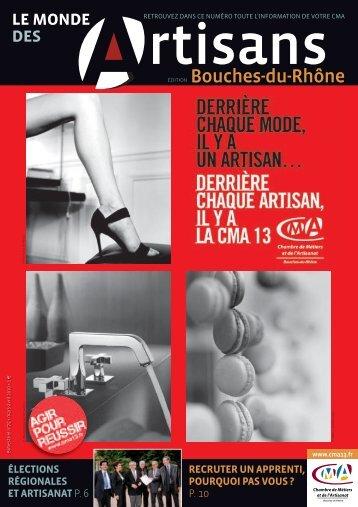 Info - Chambre de Métiers et de l'Artisanat des Bouches-du-Rhône