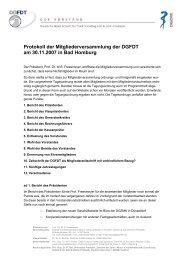 Protokoll der Mitgliederversammlung der DGFDT am 30.11.2007 in ...