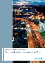 Three complex tasks – one common platform - Industry