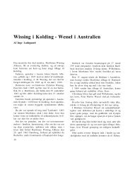 Wissing i Kolding - Wessel i Australien