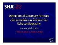 Detection of Coronary Arteries Abnormalities in Children by ...