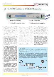 DVB-T and DVB-H modulator - MO-180