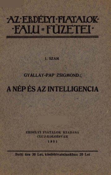 a nép és az intelligencia - MEK