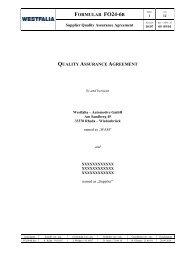 FO24-6b Supplier Quality Assurance Agreement - Westfalia