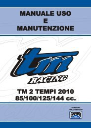 80/85/100/125/144cc – Owner Manual – ITA - TM Racing