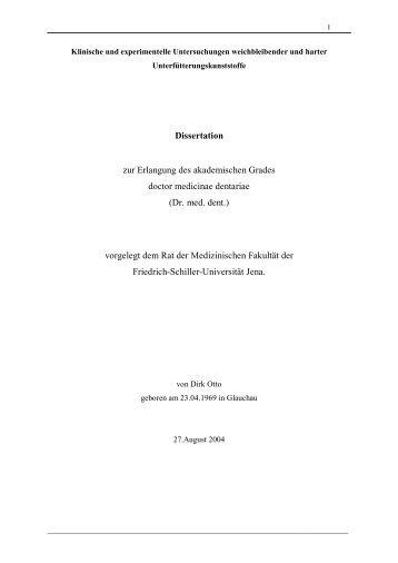 Dissertation zur Erlangung des akademischen Grades doctor ...