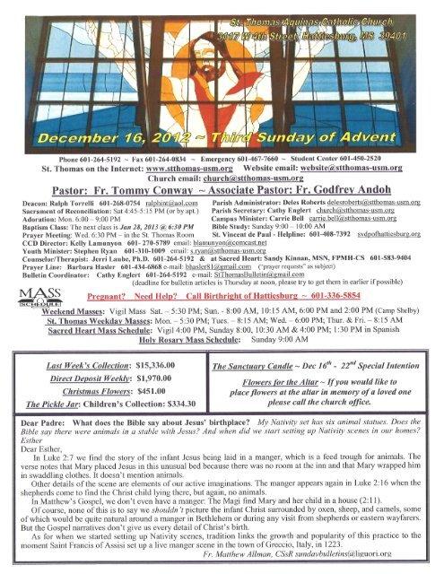 Fr  Godfrey Andoh - St  Thomas Aquinas Catholic Church