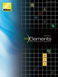 Imaging Software NIS-Elements - Hanyko Praha