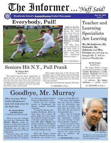 Informer May 2009 - Woodlynde School