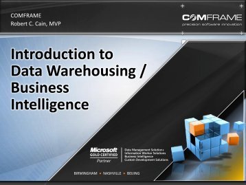 Introduction to Data Warehousing / Business ... - Get a Free Blog
