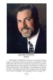 Biographies of House Members - West Virginia Legislature