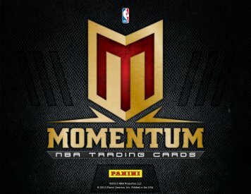 2012-2013 Panini Momentum Basketball Product Information Sheet