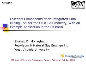 Spe Petroleum And Natural Gas Wvu