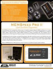 MEMSPEED PRO II Flyer - Abracon
