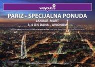 PARIZ • SPECIJALNA PONUDA - Wayout