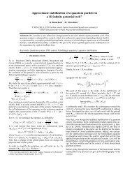 Approximate stabilization of a quantum particle in a 1D infinite ... - Inria