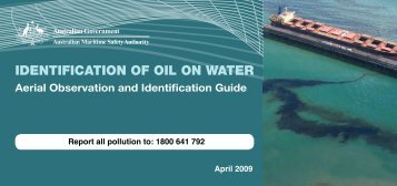 identification of oil on water - Australian Maritime Safety Authority