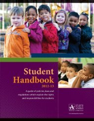 Atlanta Public School Student Handbook 2013-2014 - Sarah Smith ...