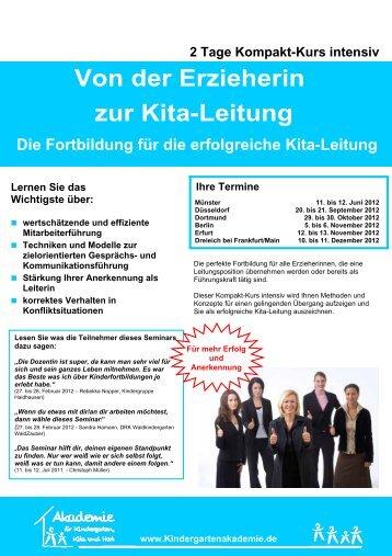 Von der Erzieherin zur Kita-Leitung - Akademie für Kindergarten ...
