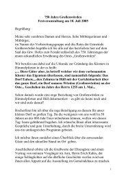 Grußwort des Bürgermeisters Hubert von der Lieth - Gemeinde ...