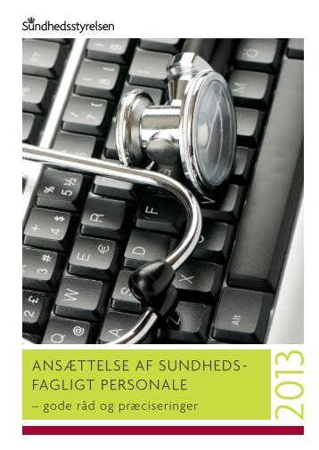 Ansættelse af sundhedsfagligt personale - Sundhedsstyrelsen