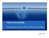 Cambios de paradigma en cáncer de próstata 2013