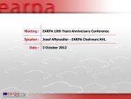 Chairman Earpa Earpa 10 Years Anniversary 2 Oct 2012