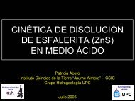 CINÉTICA DE DISOLUCIÓN DE ESFALERITA (ZnS) EN ... - UPC
